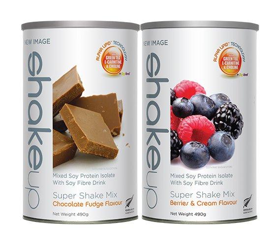 <b>ShapeUp</b> is a great source of protein and low in carbohydrates. Delicious Berries & Cream or indulgent Chocolate Fudge.